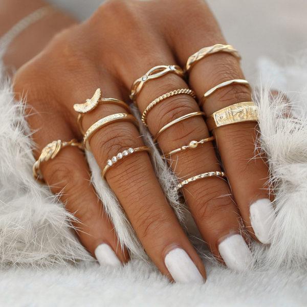 Zestaw 12 pierścionków (Natty Rings)