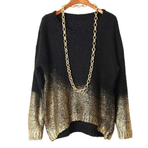 Sweter Golden Neck