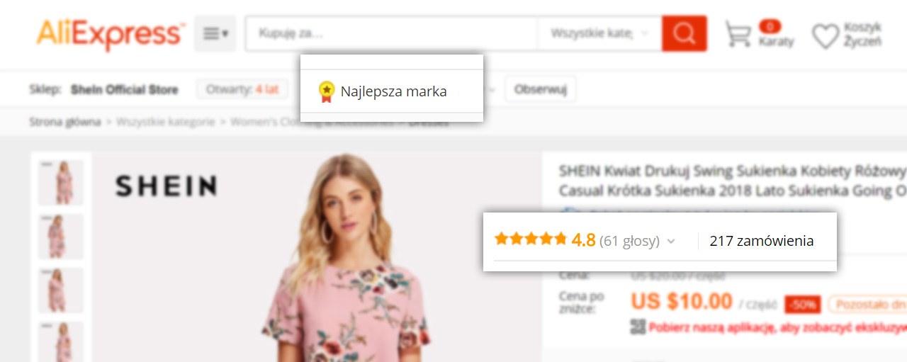oceny produktów i sprzedawców
