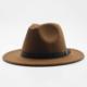 brązowy kapelusz wełniany damski