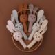 miekka zabawka grzechotka z dzwonkami