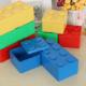 kolorowe pojemniki na zabawki LEGO
